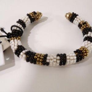 Nordstrom Treasure & Bond Black & White gold cuff